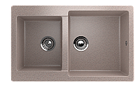 Мойка кухонная двухсекционная ECO Stone 770 x 500