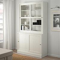 ХАВСТА Комбинация с раздвижными дверьми, белый, 121x47x212 см, фото 1