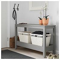 ХАВСТА Консольный стол, серый, 100x35x63 см, фото 1