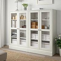 ХАВСТА Комбинация д/хранения+стекл дверц, белый, 162x37x134 см, фото 1