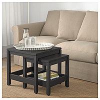 ХАВСТА Комплект столов, 2 шт, темно-коричневый, фото 1