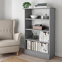ХАВСТА Стеллаж с цоколем, серый, 81x37x134 см, фото 1