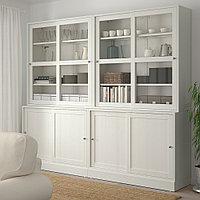 ХАВСТА Комбинация с раздвижными дверьми, белый, 242x47x212 см, фото 1