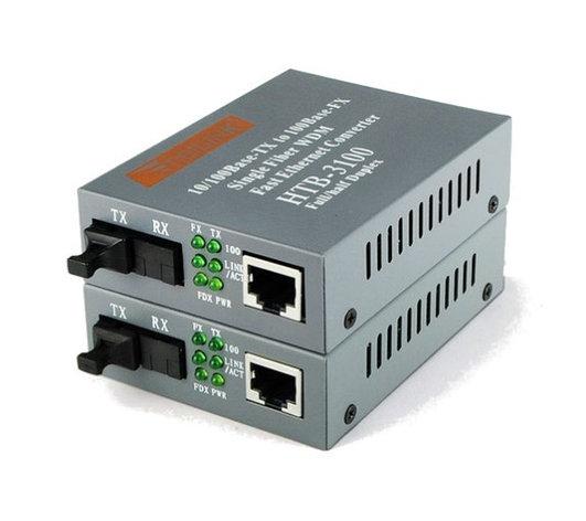 Медиаконвертер Netlink HTB-3100B - 100мбс 1550/1310нм, фото 2