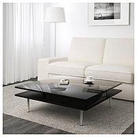 ТОФТЕРИД Журнальный стол, глянцевый черный, 95x95 см, фото 1