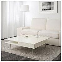 ТОФТЕРИД Журнальный стол, глянцевый белый, 95x95 см