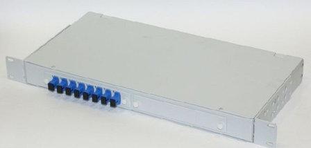 """Кросс оптический 19"""" (ШКОС) укомплектованный на 8 SC портов (комплект с розетками и пигтейлами), фото 2"""