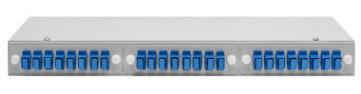 """Кросс оптический 19"""" (ШКОС) укомплектованный на 24 SC портов (комплект с розетками и пигтейлами), фото 2"""