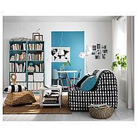 ТИНГБИ Стол приставной на колесиках, белый, 50x50 см, фото 1