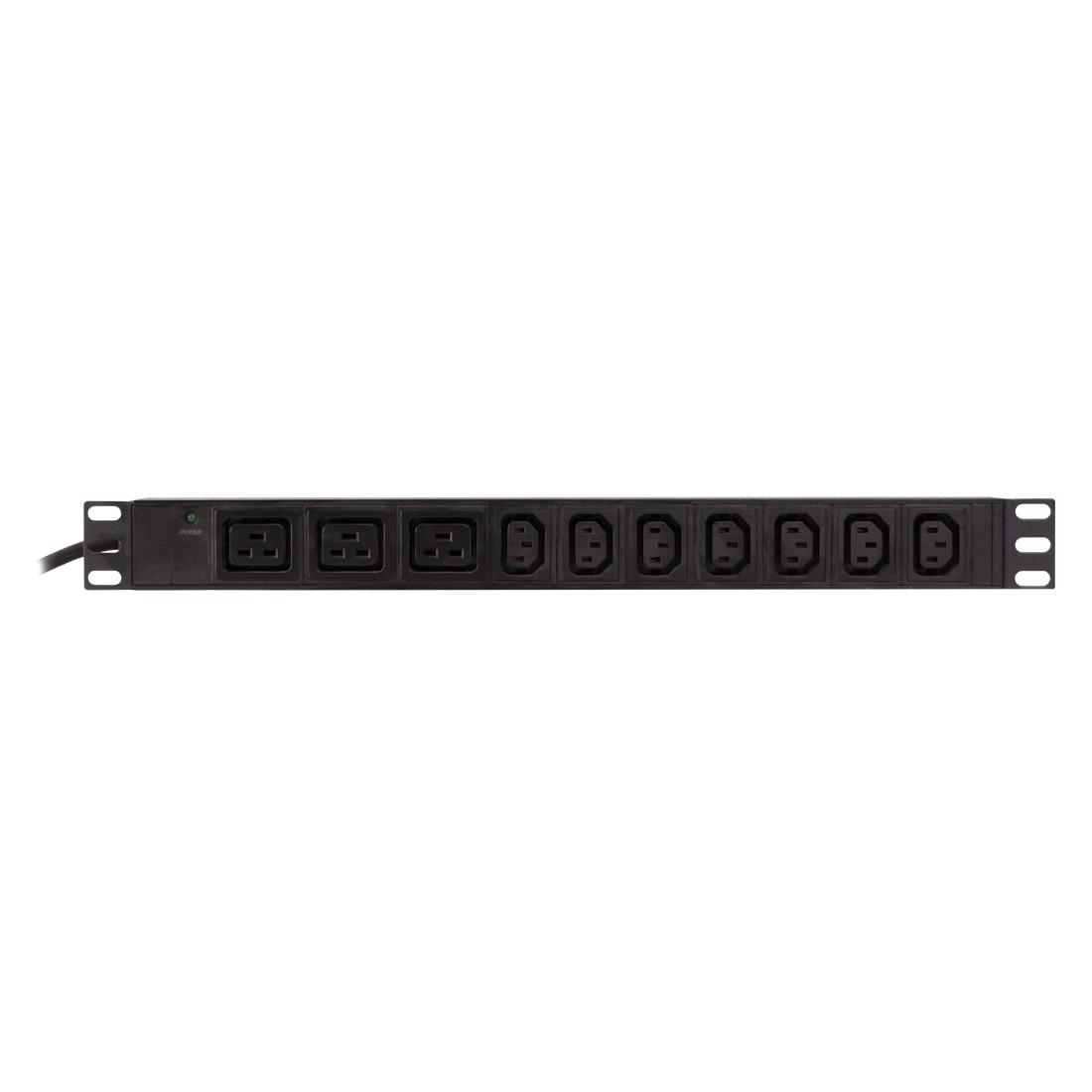 Сетевой фильтр SHIP 700573102 (7 Розеток C13 + 3 розетки типа C19, Black)