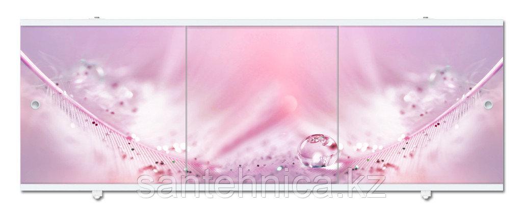 Экран для ванны Премиум А 1480х560х34 мм розовый