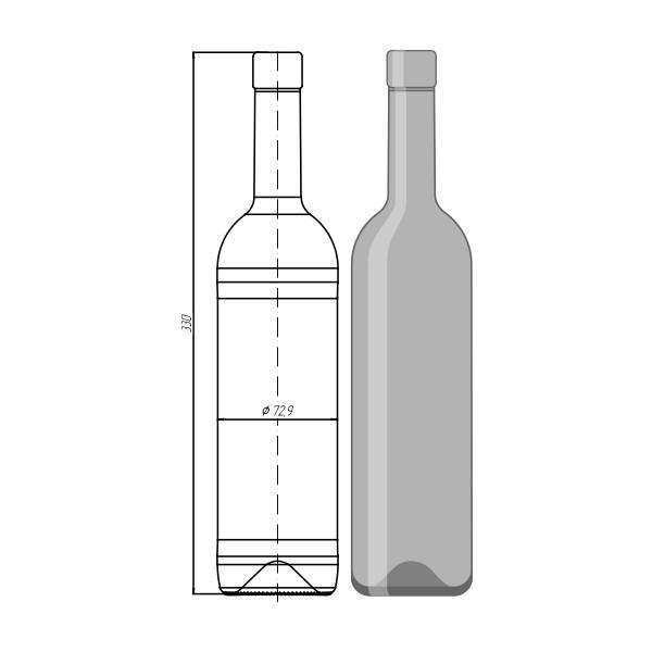 """Стеклотара""""Bordeaux """" 500 мл"""