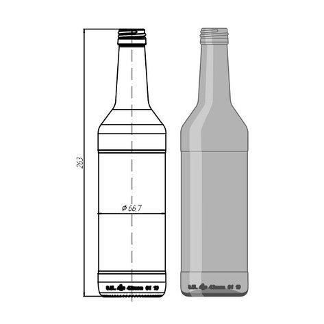 """Стеклотара 003 -В28-1-500мл """"Wodka Bottle"""", фото 2"""