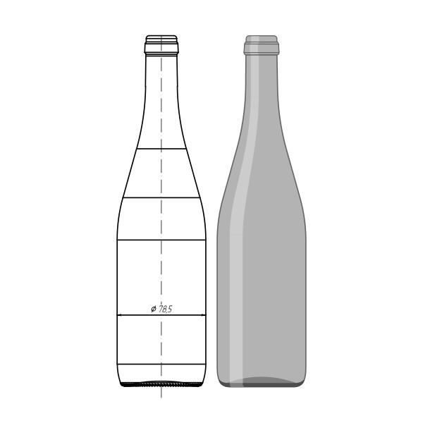 "004-А0.2-750мл ""Wine Bottle"""