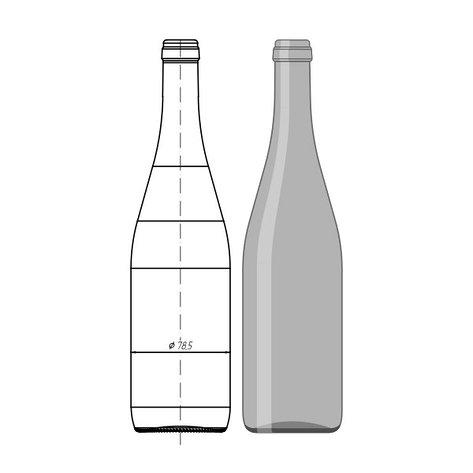 """004-А0.2-750мл """"Wine Bottle"""", фото 2"""
