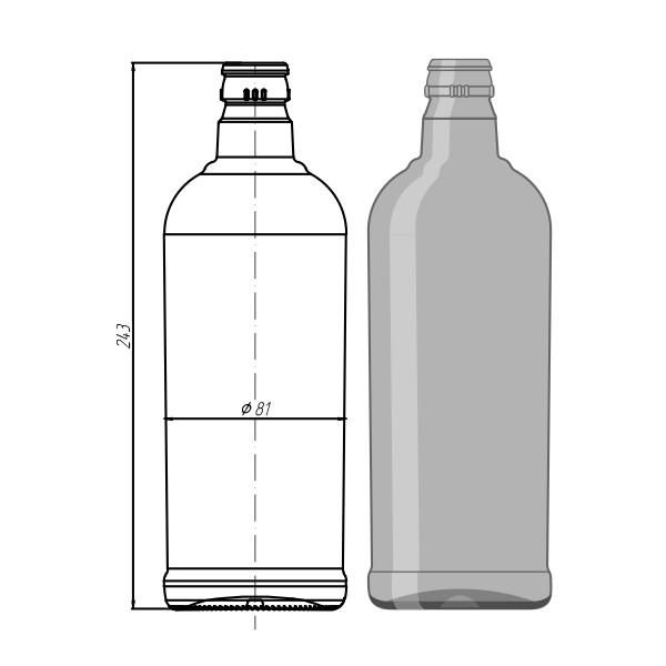 """005-КПМ-30-750мл """"Wodka Bottle"""""""