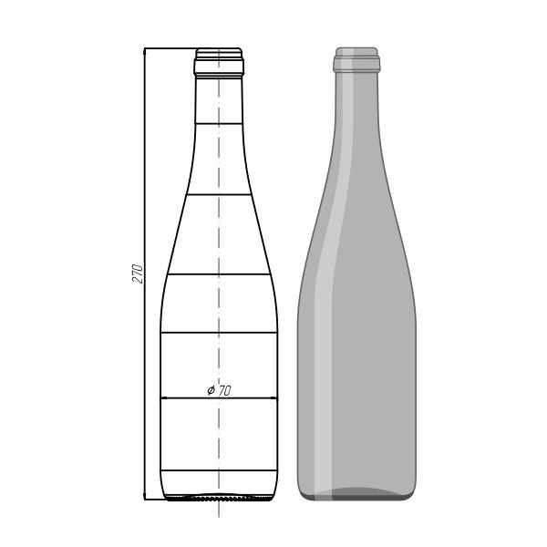 "Стеклотара 006 - АО.2-500мл "" Wine Bottle"""