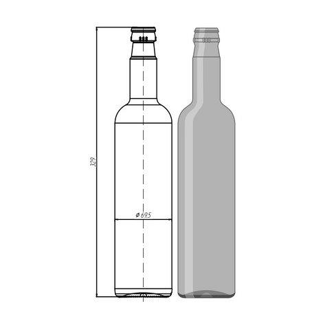"""Стекло тара 015-КПМ - 30-700мл """"Wodka Bottle"""", фото 2"""