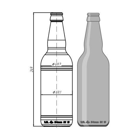 """Стеклотара 019-А-26-500мл """"Beer"""", фото 2"""