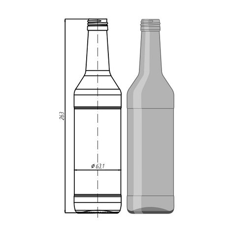"Стеклотара N033-B28-1-450ml ""Wodka Bottle"", фото 2"