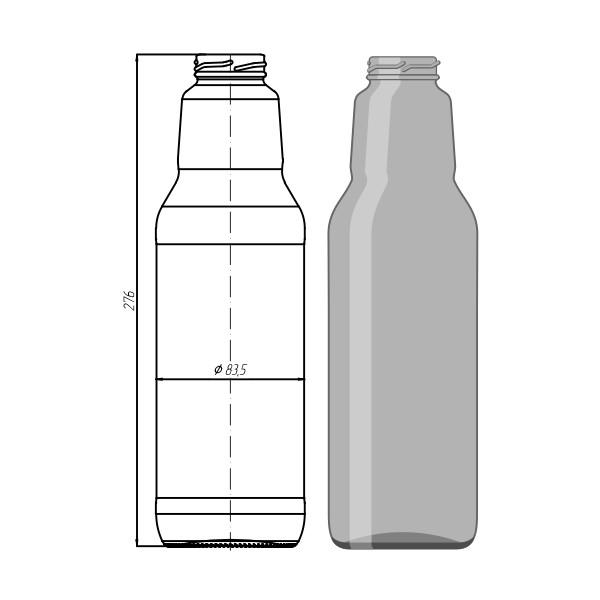 012J - TO - 43 - 1000 ml Juice Bottle