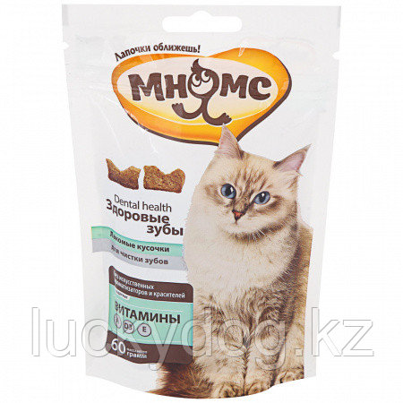 Лакомство для кошек Мнямс Лакомые кусочки Здоровые зубы