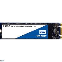Твердотельный накопитель 250GB SSD WD Серия BLUE 3D NAND M.2 2280 SATA3 R550Mb/s W525MB/s WDS250G2B0