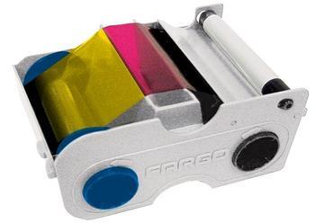 Многоразовый картридж с лентой и чистящим валиком FARGO 45000