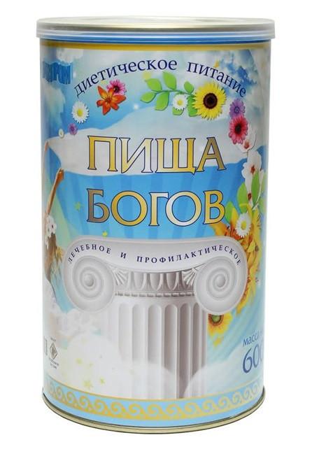"""Коктейль соево-белковый сухой """"Пища богов"""" 600гр клубника"""