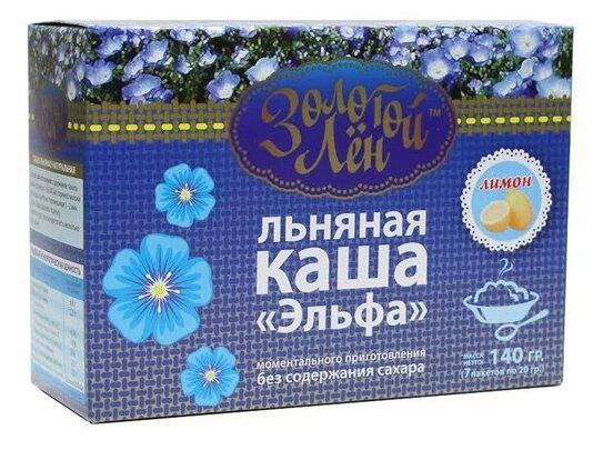 """""""Золотой лен"""" Каша льняная """"Эльфа"""" лимон - 7 пакетов по 20 г"""