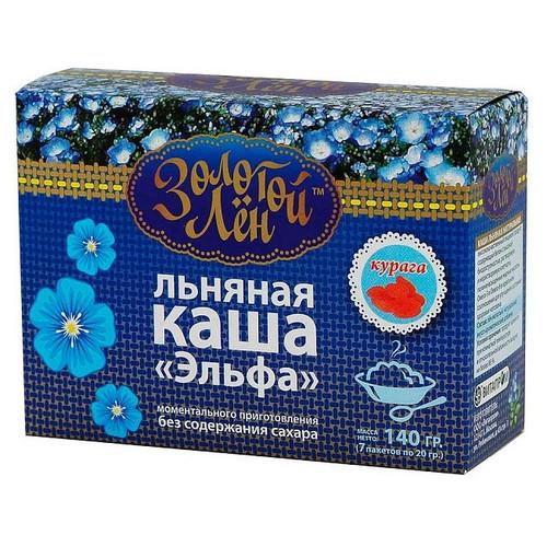 """""""Золотой лен"""" Каша льняная """"Эльфа"""" курага - 7 пакетов по 20 г"""