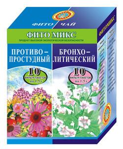 """ФитоМикс №14+№5 """"Противопростудный+Бронхолитический"""" по 1,5 №10"""