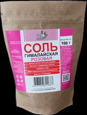 Соль розовая гималайская ЭКОжизнь 100г