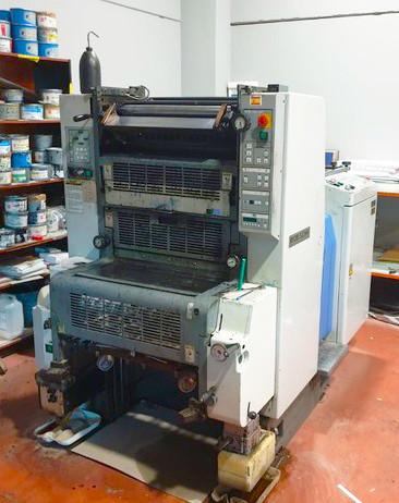 Офсетная печатная машина RYOBI 520HX, 1-краска с алк.увлажнением, 520х375, 1997г
