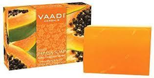 Мыло с папайей осветляющее (Papaya soap VAADI Herbals), 75 гр