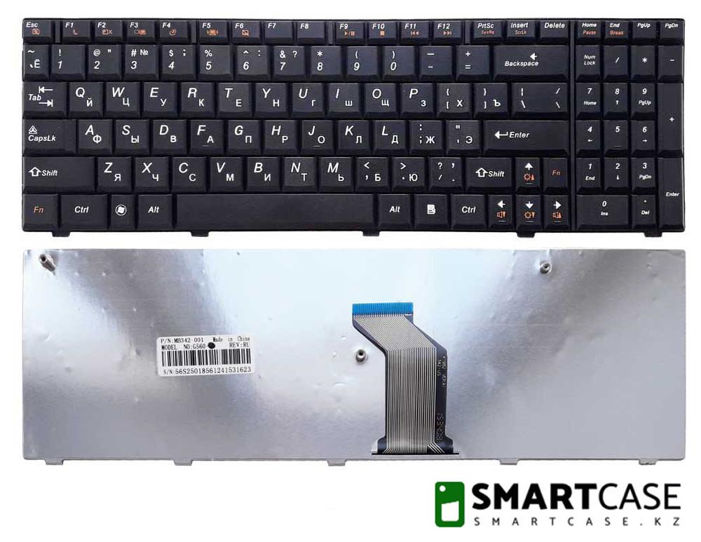 Клавиатура для ноутбука Lenovo IdeaPad G560 (черная, RU)