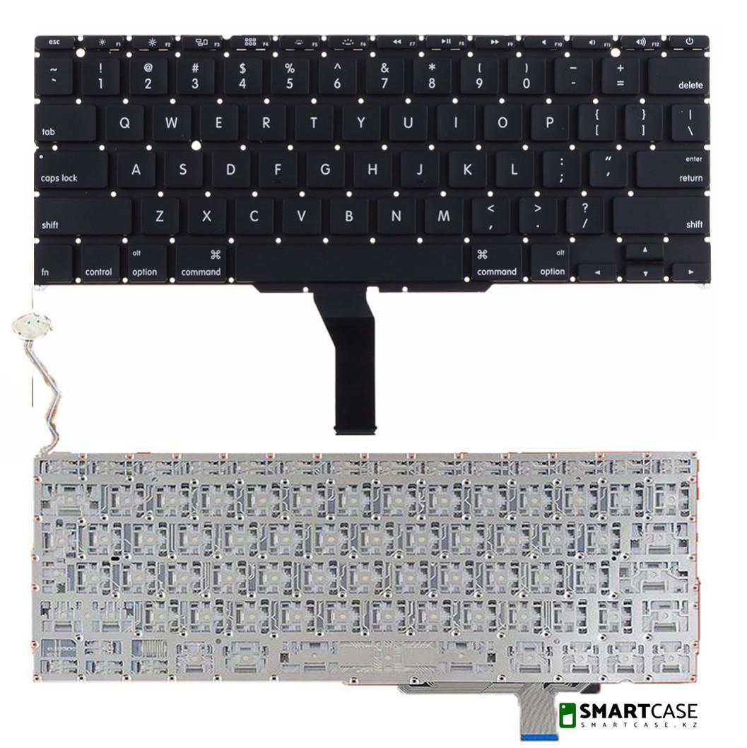 Клавиатура для ноутбука Apple MacBook PRO A1297 (черная с подсветкой, ENG)
