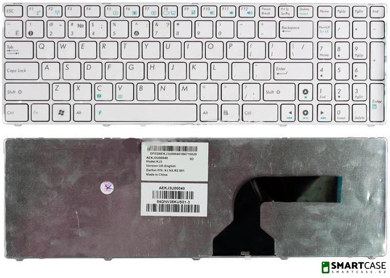 Клавиатура для ноутбука Asus G60 (белая, ENG)