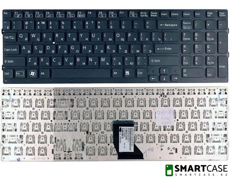 Клавиатура для ноутбука Sony VPC-CB (черная, RU)