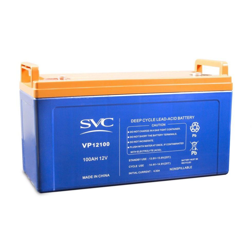 Батарея, SVC, 12В*100 Ач, Размер в мм.: 230*320*150мм.
