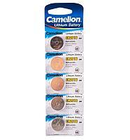 Батарейка Camelion CR2016-BP5 Lithium Battery 3V, 220 mAh (5 шт.)