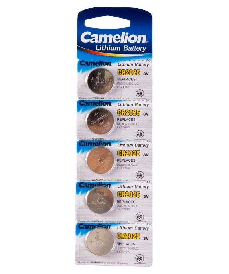 Батарейка Camelion CR2025-BP5 Lithium Battery 3V, 220 mAh (5 шт.)
