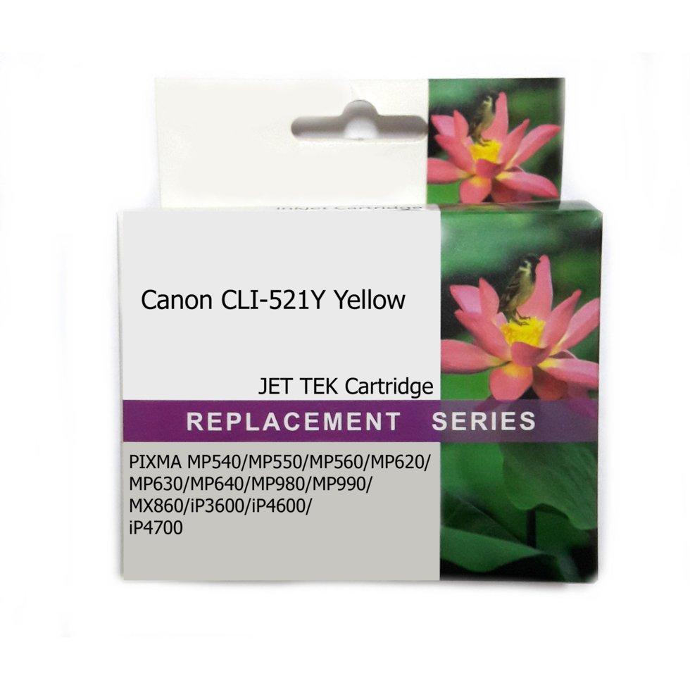 Картридж струйный Jet Tek для Canon CLI-521Y Yellow