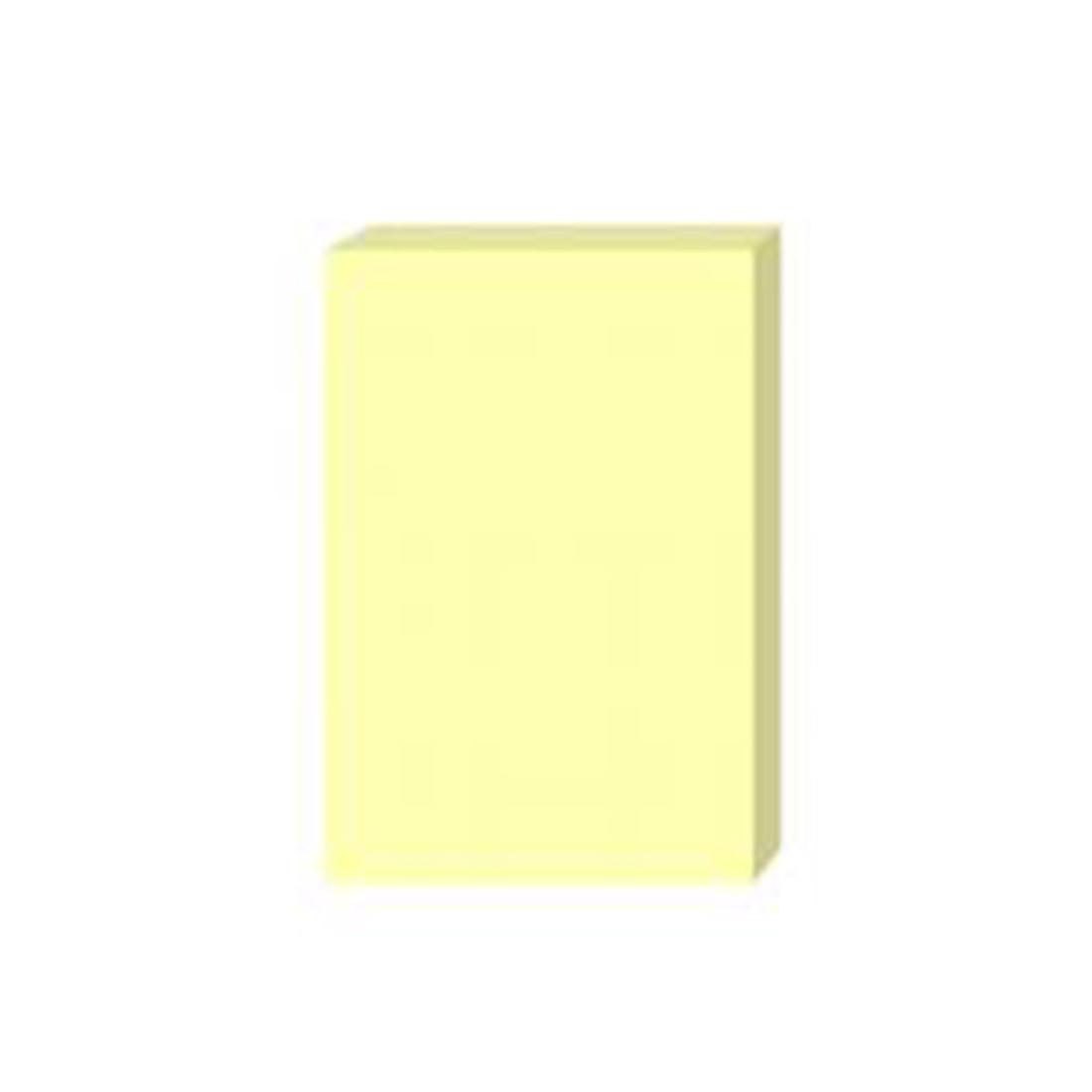 Стикеры бумажные самоклеющиеся Comix (76х101 мм, 100 л, Жёлтый)
