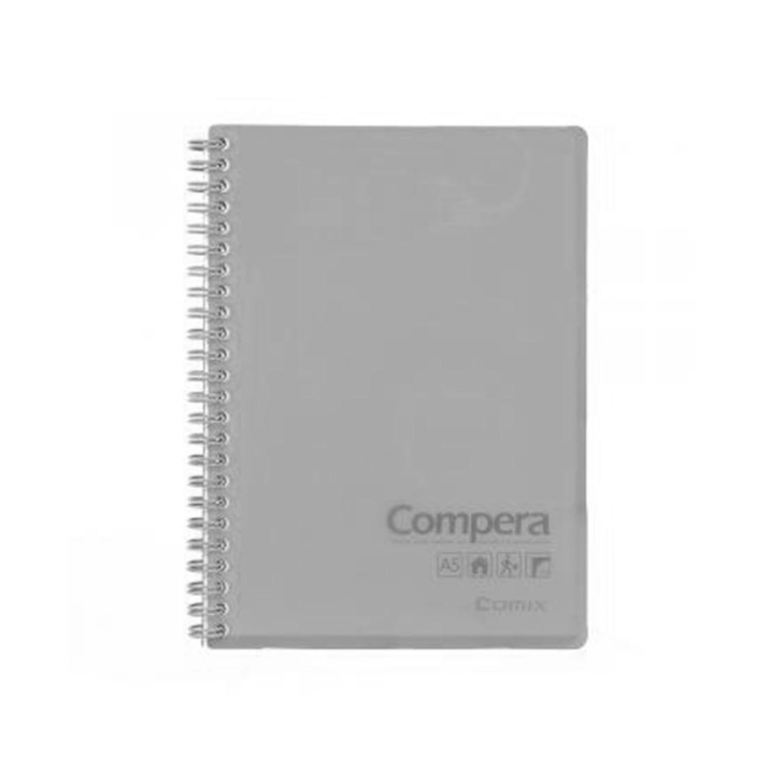 Блокнот B5 Comix CPB5801 (80л, 179х252мм, Серый)