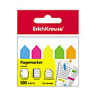 Закладки пластиковые с клеевым краем ErichKrause Neon Arrows (12х44мм, 100 листов)