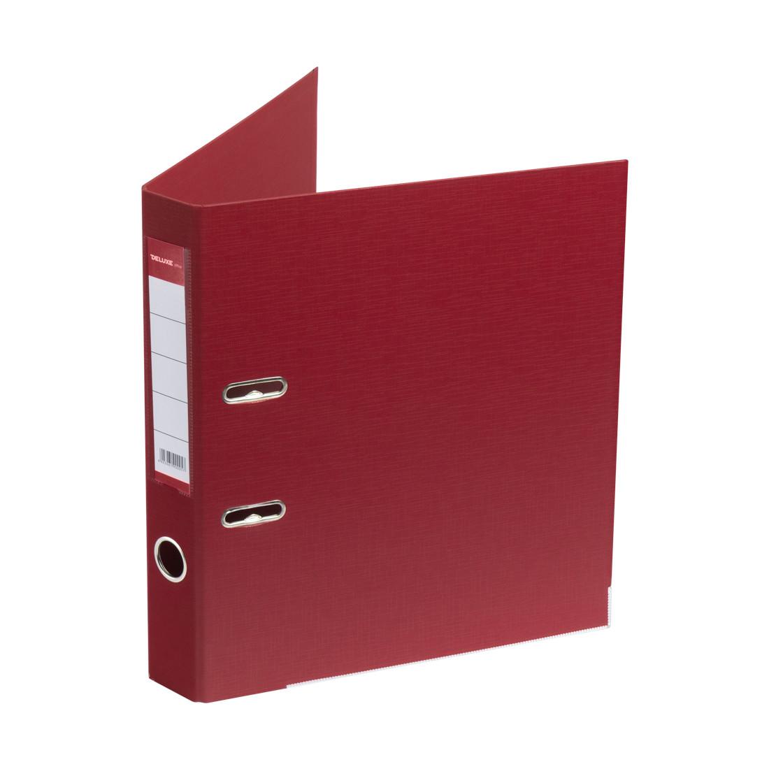 Папка–регистратор с арочным механизмом Deluxe Office 2-RD24 (50 мм, А4, Красный)