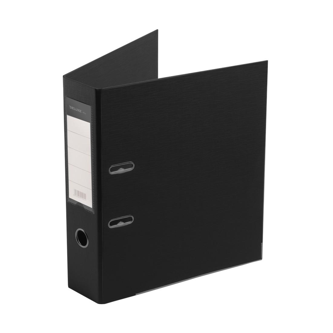 Папка–регистратор с арочным механизмом Deluxe Office 3-BK19 (70 мм, А4, Черный)
