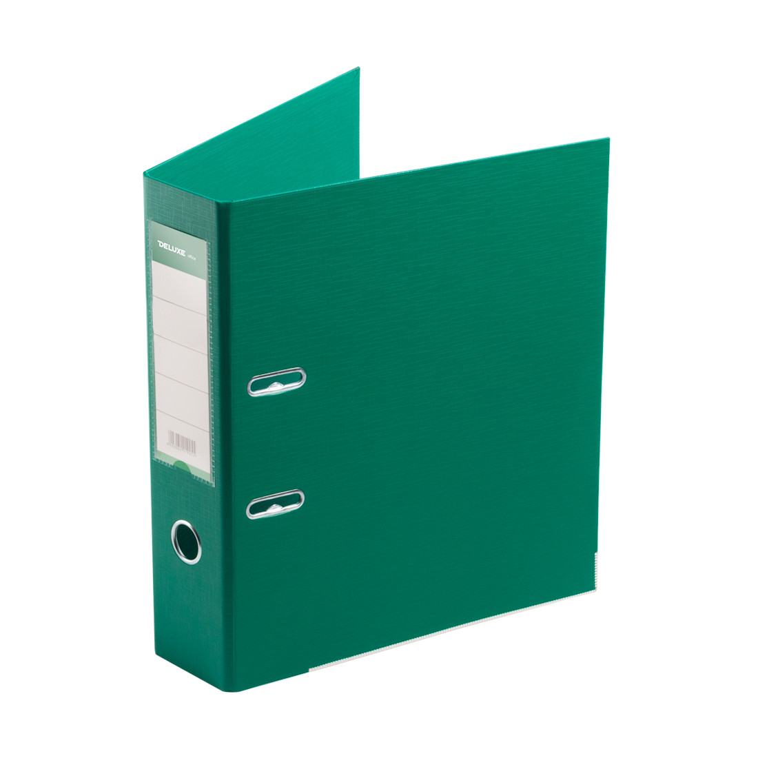 Папка–регистратор с арочным механизмом Deluxe Office 3-GN36 (70 мм, А4, Зеленый)