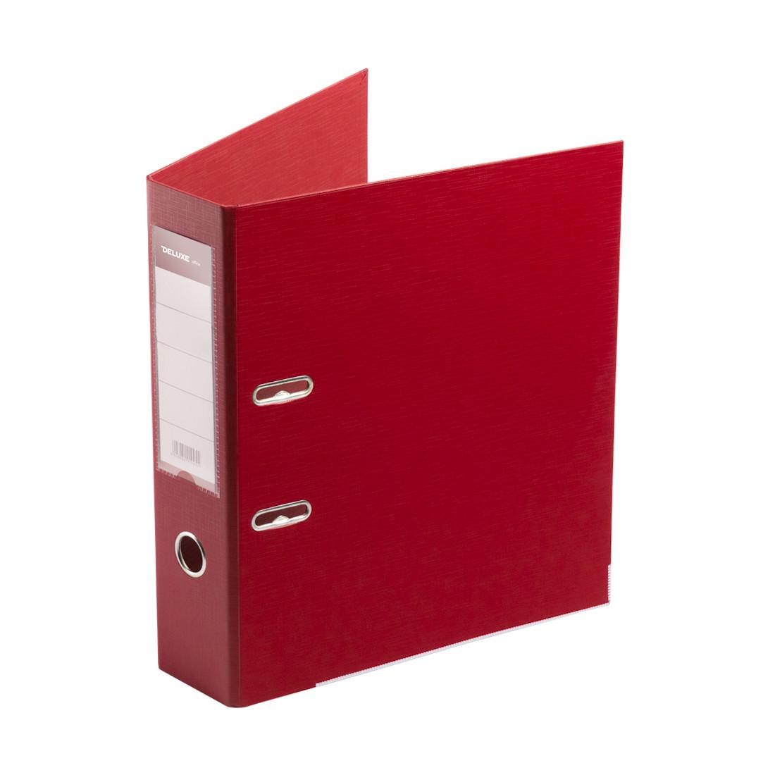 Папка–регистратор с арочным механизмом Deluxe Office 3-RD24 (70 мм, А4, Красный)